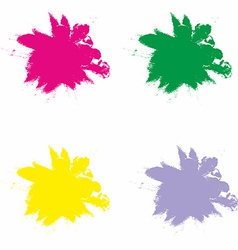 Splash in Red Green Yellow and Violet Color vector