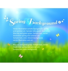 Sunny meadow background vector