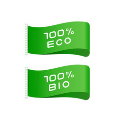 tags eco bio food organic product labels vector image