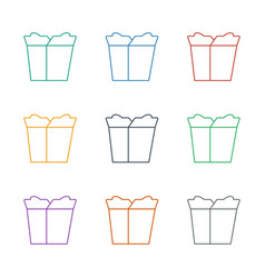 Take away food icon white background vector