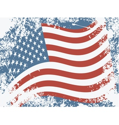 USA grunge flag vector image