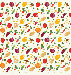 vegetables background in flat style healthy food vector image