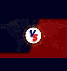 Versus vs background logo vs letters vector