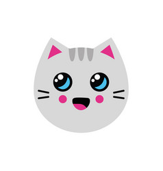 with cat in flat style vector image
