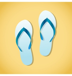 Beach Jandals vector image