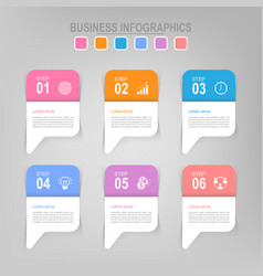 infographic of step flat design of business icon vector image vector image