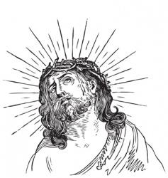Jesus christ engraving vector