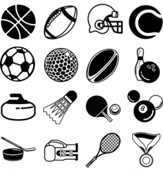sports icon set vector image vector image