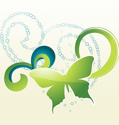 beautiful butterfly vector image vector image