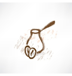 coffee turk grunge icon vector image vector image