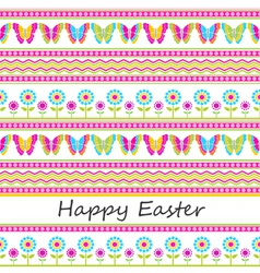 Cute easter seamless background vector image vector image