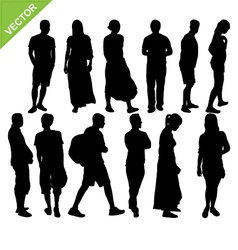 Peoples silhouettes vector image vector image