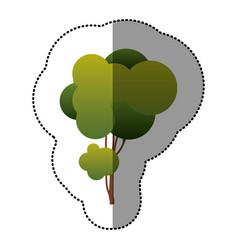 color creative tree icon vector image