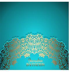 Decorative invitation background vector