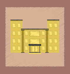 Flat shading style icon school building vector
