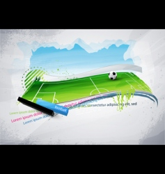 football field graffiti vector image