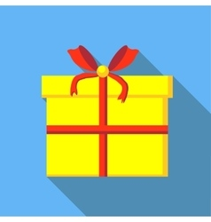 Gift box icon flat style vector image