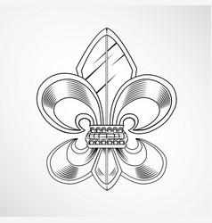 Heraldic lily vector