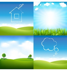 Landscape And Sky vector image vector image