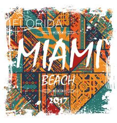 miami beach background vector image