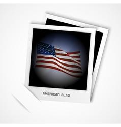 polaroid usa flag vector image vector image