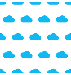 seamless pattern from blue cloud on white vector image
