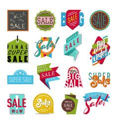 shop sale flat stickers banner vector image