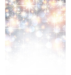 Silver shiny christmas background vector image vector image
