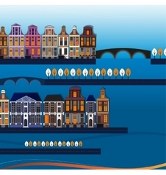 02 Holland City Background vector image