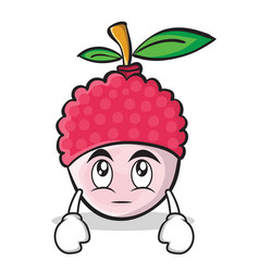 eye roll face lychee cartoon character style vector image vector image