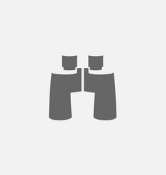 Flat of binoculars icon vector