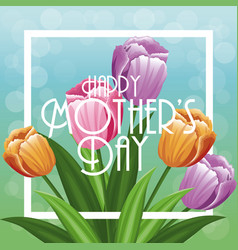 greeting happy mothers day decoration vector image vector image