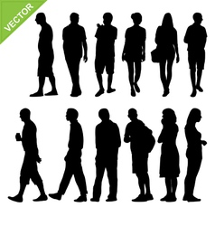 Peoples silhouettes vector image