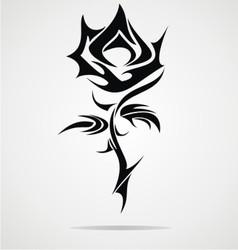 Rose flower tattoo design vector
