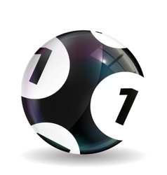 Victory Ball for the game of lottery Jack pot vector image