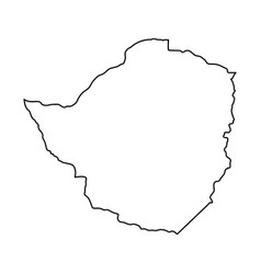 zimbabwe map of black contour curves on white vector image