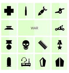 14 war icons vector