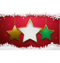 abstract christmas star ornament hanging vector image