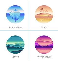 abstract logo design templates vector image