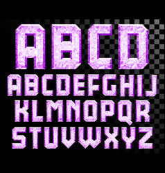 Alphabet crystal letters vector