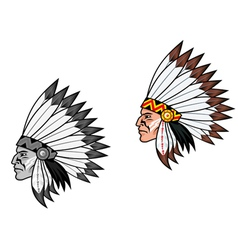 American indian head vector