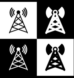 Antenna sign black and white vector