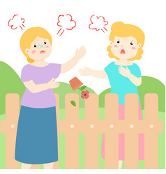 Bad relationship of senior neighbor vector