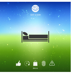 Bed symbol icon vector