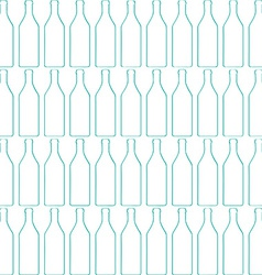 Bottle silhouette pattern vector image