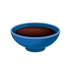 bowl of soy sauce on a white vector image
