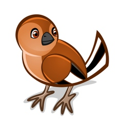 cartoon bird one vector image