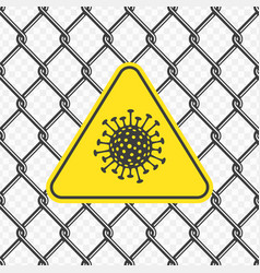 Chain link fence with virus vector