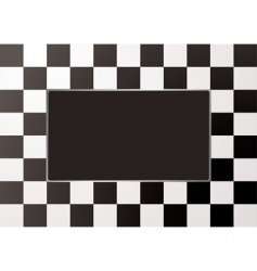 checkered picture frame vector image