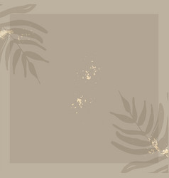 Chic trendy print with botanical motifs vector